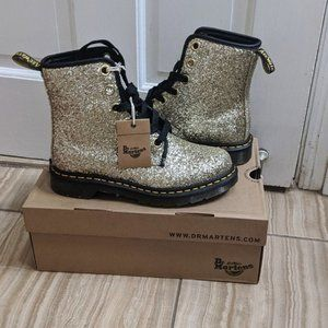 Dr. Martens gold boots